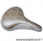 Selle city régent a ressort blanc/or 260x205mm marque DDK - Accessoire Vélo