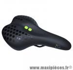 Selle city confort density line mixte noir deco vert/gris 270x175mm rail acier noir marque DDK - Accessoire Vélo