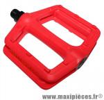 Pédale BMX newton résine colori rouge 9/16ème - Accessoire Vélo Pas Cher * Prix spécial !