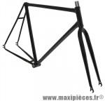 Cadre fixie/single speed/piste avec fourche noir t54 - Accessoire Vélo Pas Cher