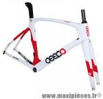 Cadre mamba blanc/rouge (taille M) marque Ceepo - Matériel pour Cycle