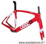 Cadre venom rouge/blanc (taille M) (+ étrier frein arrière) marque Ceepo - Matériel pour Cycle