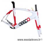 Cadre venom blanc/rouge (taille L) (+ étrier frein arrière) marque Ceepo - Matériel pour Cycle