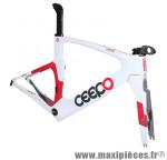 Cadre viper blanc/rouge (taille L) marque Ceepo - Matériel pour Cycle
