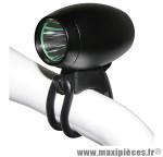 Eclairage vélo a batterie avant led 900 lumens 3 modes noir - Accessoire Vélo Pas Cher