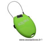 Antivol vélo cable a combinaison retrac2 vert lime l600mm marque Squire - Accessoire Vélo