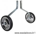 Stabilisateur vélo roue acier chrome 12-14-16-18 pouces (paire) marque Newton - Pièce Vélo