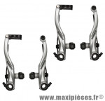 Etrier de frein VTT v-brake alivio argent (2 paires) marque Shimano - Matériel pour Vélo