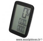 Compteur pure 1 noir (5 fonctions) grand écran 3 lignes pour fonctions vitesse-distance-durée marque Sigma - Accessoire Vélo