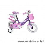 Vélo pour enfant 12 puppies acier fille violet marque Jumpertrek - Vélo - Vélo pour enfant complet