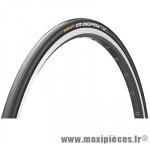 Pneu pour vélo de route 700x25 grand prix tt noir/noir 190g 330tpi ts (25-622) marque Continental - Pièce Vélo
