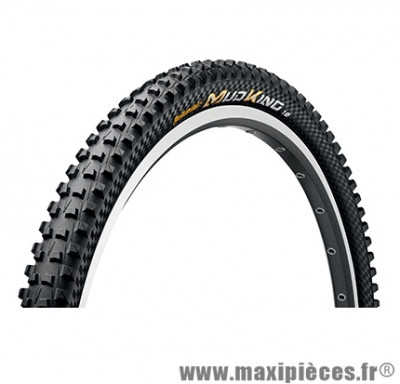 Pneu de VTT 29x1.80 mudking protection noir tubetype/tubeless ts (47-622) marque Continental - Pièce Vélo