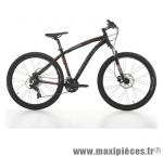 Vélo VTT 27.5 sleek alu homme 21v freins disque hydraulique noir/rouge t39 (dérailleur shimano tx-800) marque Jumpertrek - VTT complet