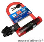Antivol vélo u eiger compact rouge a clé 145x83mm d 15,6mm avec support marque Squire - Accessoire Vélo
