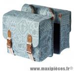 Sacoche arrière city bohème jade bleu (35 litres) fixation crochet/ressort (28x10x23 cm) marque Basil - Matériel pour Cycle