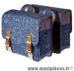Sacoche arrière city bohème indigo bleu (35 litres) fixation crochet/ressort (28x10x23 cm) marque Basil - Matériel pour Cycle