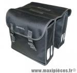 Sacoche arrière city mara noir (lg - 26 litres)(35x12x31 cm) (paire) marque Basil - Matériel pour Cycle