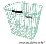 Panier arrière acier maille bottle vert pastel fixation crochet sur porte bagage (24x33x33 cm) marque Basil - Matériel pour Cycle