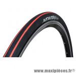 Pneu pour vélo de route 700x25 e-01 noir lisères rouge ts (25-622) marque Newton - Pièce Vélo