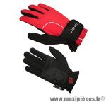 Gant de vélo hiver barbieri rouge/noir S (paire) - Accessoire Vélo Pas Cher
