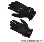 Gant de vélo hiver barbieri noir M (paire) - Accessoire Vélo Pas Cher
