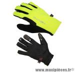 Gant de vélo VTT vento jaune fluo/noir M (paire) - Accessoire Vélo Pas Cher