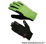 Gant de vélo VTT vento vert/noir S (paire) - Accessoire Vélo Pas Cher