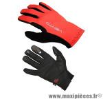 Gant de vélo VTT vento rouge/noir S (paire) - Accessoire Vélo Pas Cher
