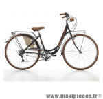 Vélo city bike 28 liberty acier femme 6 vitesses noir mat (taille 44) marque Cinzia - Vélo - Vélo de Ville complet