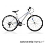 Vélo VTC 28 fitness sport alu femme 21v blanc (taille 48) (shimano ty-21+rs-35) marque Jumpertrek - Vélo - VTC complet