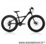 Vélo fatbike 24 xx fat alu 21v noir/vert h36 (shimano tx-800) marque Jumpertrek - Vélo - VTT complet