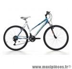 Vélo VTT 26 xtrail acier femme avec fourche télescopique 18v blanc/bleu (taille 47) (shimano tx-30+ty-21) marque Jumpertrek - VTT complet