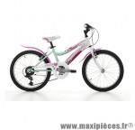 Vélo VTT 20 ariel acier fille 6v violet/blanc (taille 30) (shimano rs-35+ty-21) marque Jumpertrek - Vélo - VTT complet