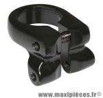 Collier serrage tige de selle avec fixation porte bagage alu noir diam 28.6mm - Accessoire Vélo Pas Cher