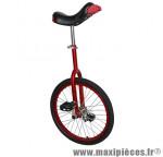 Monocycle 20 pouces rouge tige de selle réglable (roue alu) - Accessoire Vélo Pas Cher - Autres vélos complet