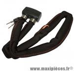 Antivol vélo pliable lock800 a clé l1,00m gris marque Axa-Basta - Accessoire Vélo