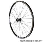 Roue VTT 27.5 pouces avant noir combo double paroi v-brake moy shimano rm66 (compatible disc centerlock) marque Vélox - Pièce Vélo