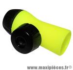 Gonfleur jaune fluo/noir (débit réglable) vp/vs (livre sans cartouche) marque Roto - Accessoire Vélo