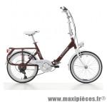 Vélo pliant 20 sixties alu 6v rouge amarante (taille 40) (shimano rs-35+ty-21) marque Cinzia - Vélo - Autres vélos complet