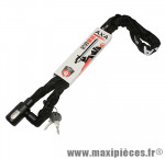 Antivol vélo chaine a clé newton noir diam 5.5mm l 110cm avec antivol marque Axa-Basta - Accessoire Vélo