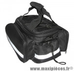 Sacoche arrière noir newton fixation dessus porte bagage - Accessoire Vélo Pas Cher