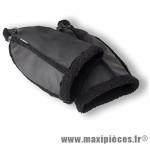 Protège main vélo warmers imitation cuir noir (contre le froid et l'humidité) marque Basil - Matériel pour Cycle
