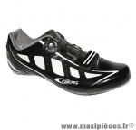 Chaussure route speed noir brillant t45 fixation boa marque GES