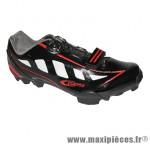 Chaussure VTT rider noir/rouge brillant t44 fixation boa compatible spd marque GES