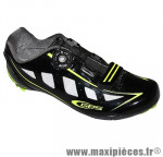 Chaussure route speed noir/jaune fluo brillant t41 fixation boa marque GES