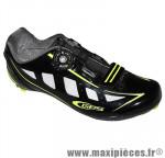 Chaussure route speed noir/jaune fluo brillant t45 fixation boa marque GES