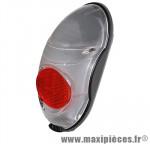 Eclairage vélo a pile arrière fixation sur garde-boue marque Axa-Basta - Accessoire Vélo