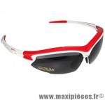Lunette vélo tiro monture blanc/rouge (3 verres interchangeables) marque GES - Equipement Cycle