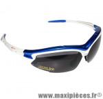 Lunette vélo tiro monture blanc/bleu (3 verres interchangeables) marque GES - Equipement Cycle