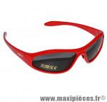 Lunette vélo enfant javelin monture rouge verres solaires marque GES - Equipement Cycle
